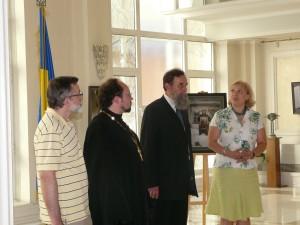 Під час відкриття виставки в Національному культурному цетрі України в Москві
