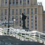 Пам'ятник Тарасу Шевченку на набережній Шевченка в Москві сьогодні
