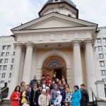 БІля храму-каплиці Бориса і Гліба на Арбатській площі