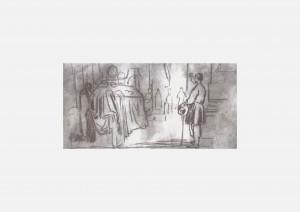 Г. Честахівський. Домовина Т. Шевченка в церкві св. Тихона Амафунтського у Москві. 1861 р.