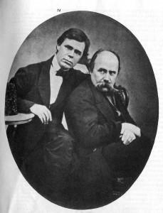 Т. Шевченко і Г. Честахівський. 1860 р.